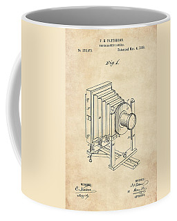 1888 Camera Us Patent Invention Drawing - Vintage Tan Coffee Mug