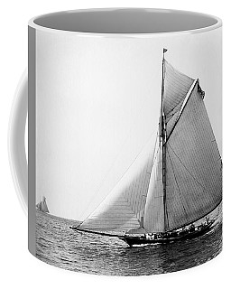 1891 American Yacht At Sea Coffee Mug
