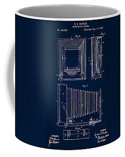 1891 Camera Us Patent Invention Drawing - Dark Blue Coffee Mug