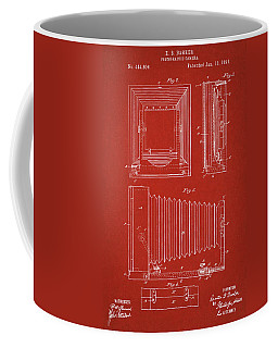 1891 Camera Us Patent Invention Drawing - Red Coffee Mug