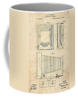 1891 Camera Us Patent Invention Drawing - Vintage Tan Coffee Mug