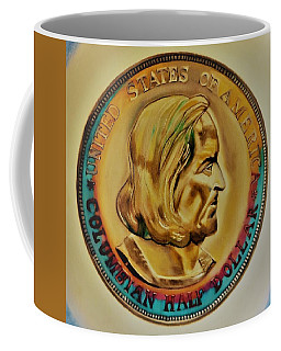 1892 Columbian Exposition Half Dollar Ms-70 Tonned Coffee Mug by Manuel Sanchez
