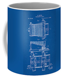 1897 Camera Us Patent Invention Drawing - Blueprint Coffee Mug