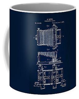 1897 Camera Us Patent Invention Drawing - Dark Blue Coffee Mug