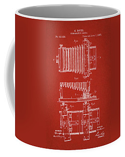 1897 Camera Us Patent Invention Drawing - Red Coffee Mug