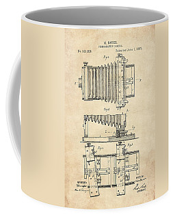 1897 Camera Us Patent Invention Drawing - Vintage Tan Coffee Mug