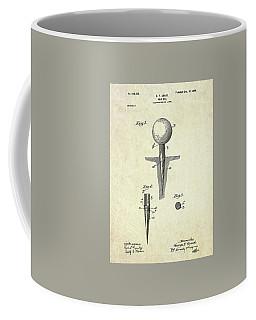 1899 Golf Tee Patent Art Coffee Mug