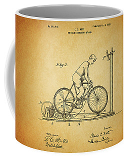 1900 Bicycle Exercise Stand Coffee Mug by Dan Sproul