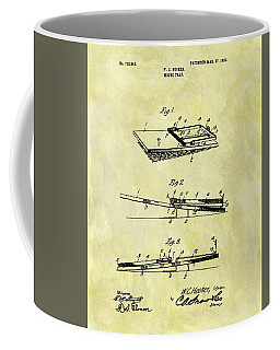 Coffee Mug featuring the mixed media 1903 Mouse Trap Patent by Dan Sproul