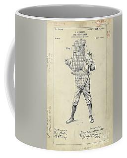 1904 Baseball Catcher Patent Coffee Mug