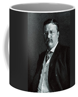 Coffee Mug featuring the painting 1904 President Theodore Roosevelt by Historic Image