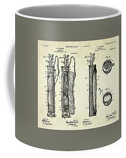 1905 Caddy Bag Patent Art Sheets Coffee Mug