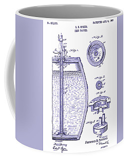 Beer mug coffee mugs fine art america 1907 beer tapper patent blueprint coffee mug malvernweather Gallery
