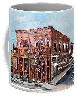 Coffee Mug featuring the painting 1907 Restaurant And Bar - Ellijay, Ga - Historical Building by Jan Dappen
