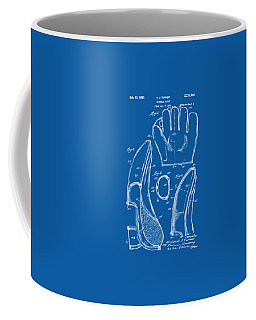 1910 Baseball Glove Patent Artwork Blueprint Coffee Mug