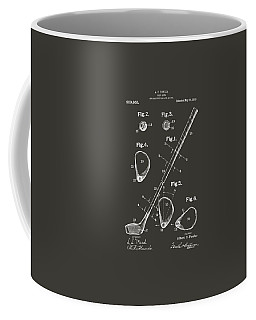1910 Golf Club Patent Artwork - Gray Coffee Mug by Nikki Marie Smith