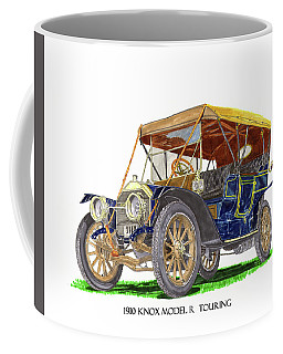 Coffee Mug featuring the painting 1910 Knox Model R 5 Passenger  Touring Automobile by Jack Pumphrey