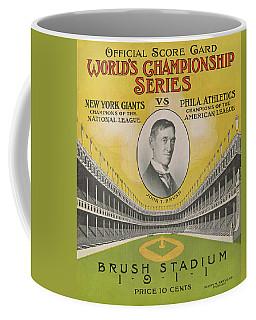 1911 World Series Score Card Coffee Mug
