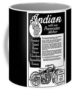Coffee Mug featuring the digital art 1913 Indian Motorcycle Is The Best by Daniel Hagerman