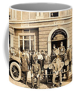 1914 Gary Indiana Fire Department Panoramic Coffee Mug