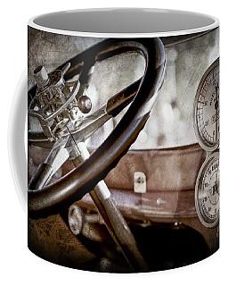 Coffee Mug featuring the photograph 1914 Rolls-royce 40 50 Silver Ghost Landaulette Steering Wheel -0795ac by Jill Reger