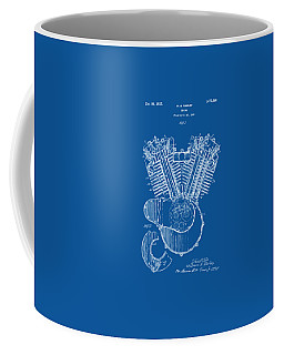 1923 Harley Davidson Engine Patent Artwork - Blueprint Coffee Mug