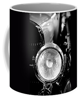 Coffee Mug featuring the photograph 1925 Lincoln Town Car Headlight by Sebastian Musial