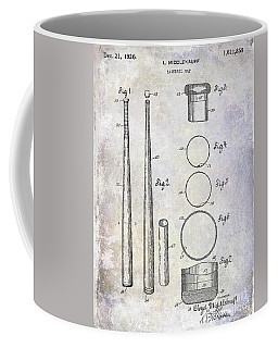 1926 Baseball Bat Patent Coffee Mug