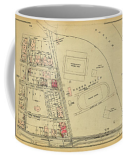 Coffee Mug featuring the photograph 1927 Baker Field Map  by Cole Thompson