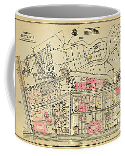 Coffee Mug featuring the photograph 1927 Inwood Map  by Cole Thompson