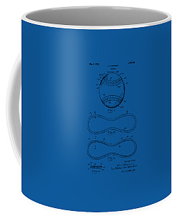 1928 Baseball Patent Artwork - Blueprint Coffee Mug by Nikki Smith