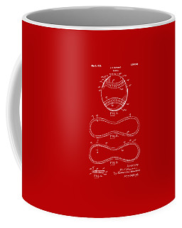 1928 Baseball Patent Artwork Red Coffee Mug