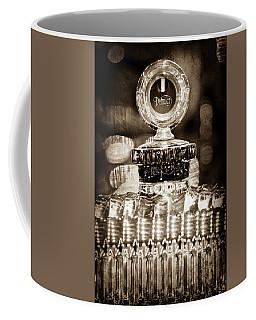 Coffee Mug featuring the photograph 1928 Daimler Hood Ornament - Moto Meter -0616s by Jill Reger