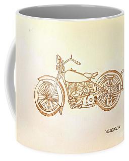 1928 Harley Davidson Motorcycle Graphite Pencil - Sepia Coffee Mug