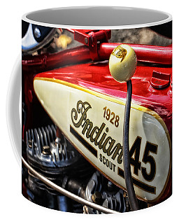 1928 Indian Scout Gas Tank Coffee Mug by Mike Martin