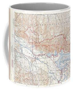 1929 Usgs Map Of Grand Teton National Park Wyoming  Coffee Mug