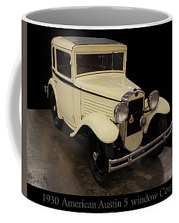 Coffee Mug featuring the digital art 1930 American Austin 5 Window Coupe by Chris Flees