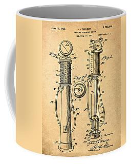 1930 Gas Pump Patent In Sepia Coffee Mug