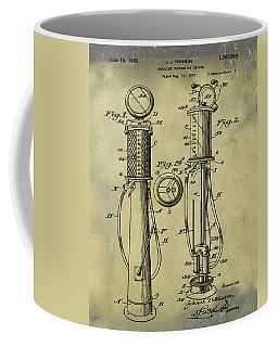 1930 Gas Pump Patent In Weathered Coffee Mug