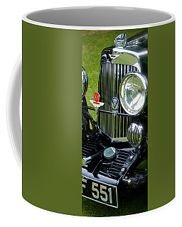 Coffee Mug featuring the photograph 1930s Aston Martin Front Grille Detail by John Colley