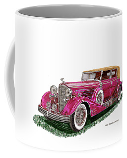Coffee Mug featuring the painting 1932 Cadillac All Weather Phaeton V 16 by Jack Pumphrey