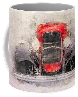 1932 Ford Roadster Red And Black Coffee Mug