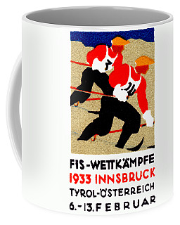 1933 Austrian Ski Race Poster Coffee Mug