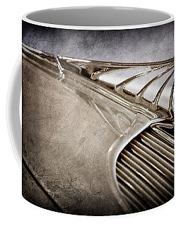 Coffee Mug featuring the photograph 1934 Desoto Airflow Coupe Hood Ornament -2404ac by Jill Reger