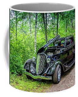 1934 Ford 3 Window Coupe Coffee Mug by Ken Morris