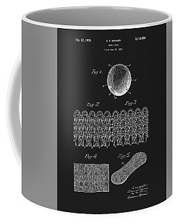 Coffee Mug featuring the mixed media 1935 Tennis Ball Patent by Dan Sproul