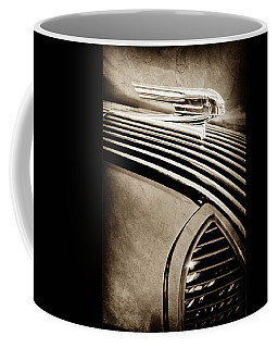 Coffee Mug featuring the photograph 1936 Pontiac Hood Ornament -1140s by Jill Reger