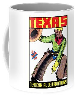 1936 Texas Centennial Poster Coffee Mug