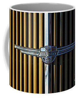 Coffee Mug featuring the photograph 1937 Chevrolet Grille by Dennis Hedberg