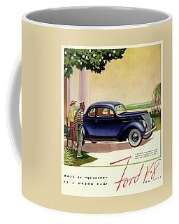 1937 Ford Car Ad Coffee Mug